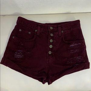Carmar highwaisted burgundy shorts